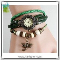 New arrival 2015 most popular simple new style ladies vintage leather watches