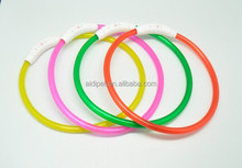 2012 cheap personalized LED pvc dog collar for protection