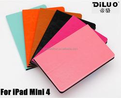 2015 newest arrived custom leather protective case for ipad mini 4