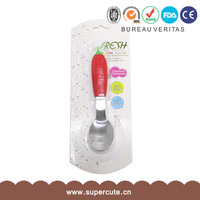 Complete in specifications Six fruits design silicone stainless steel spoon sets