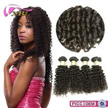 8A Mongolian Curly Wholesale Price Virgin Single Drawn Human Hair