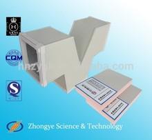 aire acondicionado aliuminum lámina de espuma fenólica conducto de aire del panel