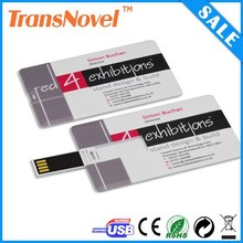 credit card usb 2.0 driver, plastic 8gb usb credit card with free full color printing