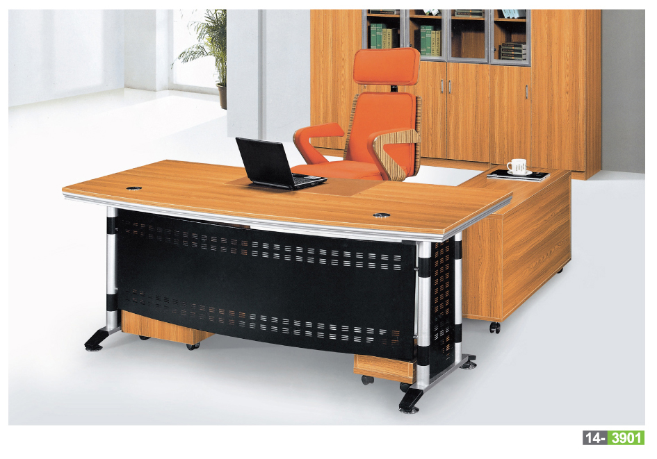 Modern executive desk office table design particle board wood factory