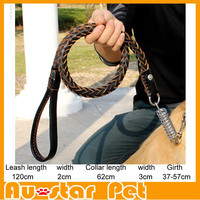 Wholesale Factory Price Good Quality Pet Supplies 3 colors Dog Leather Leashes