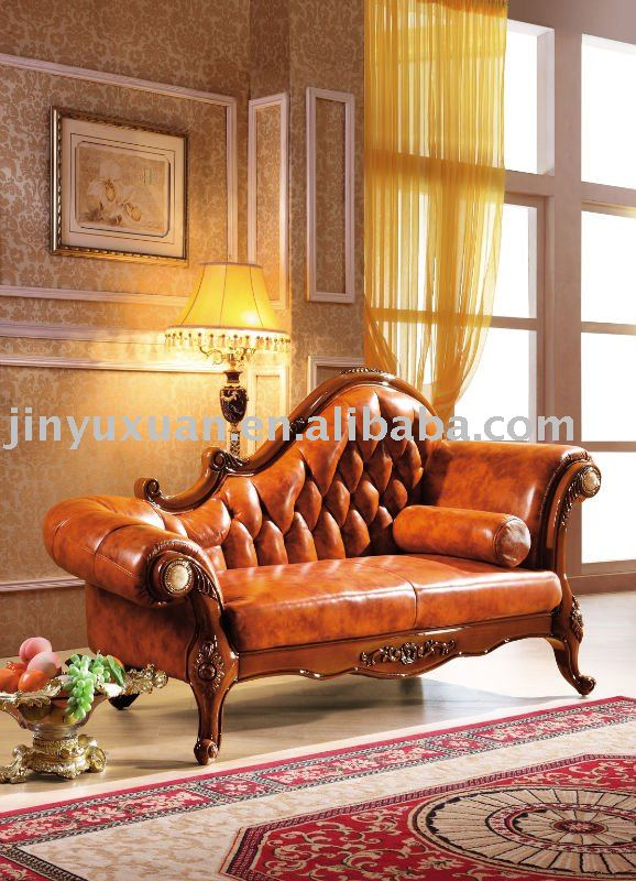 Living Room Furniture European Leather Sofa Lounge Chaise W381c With Good Qu