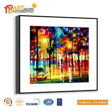 Fashion framed colorful oil painting for bedroom