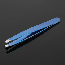 INTERWELL BR34 Promotional Item, Stainless Steel Slant Tip Eyelash Tweezers