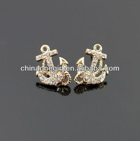Rhinestone Anchor Fashion Stud Earrings