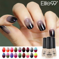 Elite99 7ml Chameleon Temperature Color Changing Nail Polish UV Gel Lacquer Professional Choices Soak-off Gel Nail LED Pick Any