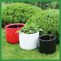 FO-330 Round Fiberglass Self Watering Flower Pots