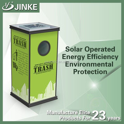 JINKE Durable Street Solar Power Advertising Display / Solar Waste Bin