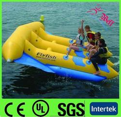 2015 Cheap inflatable fly fish water sports / banana boat fly fish / inflatable fly fish tube