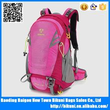 New style tearing resistance waterproof fabrics pink hiking backpack,climbing backpack,camping backpack