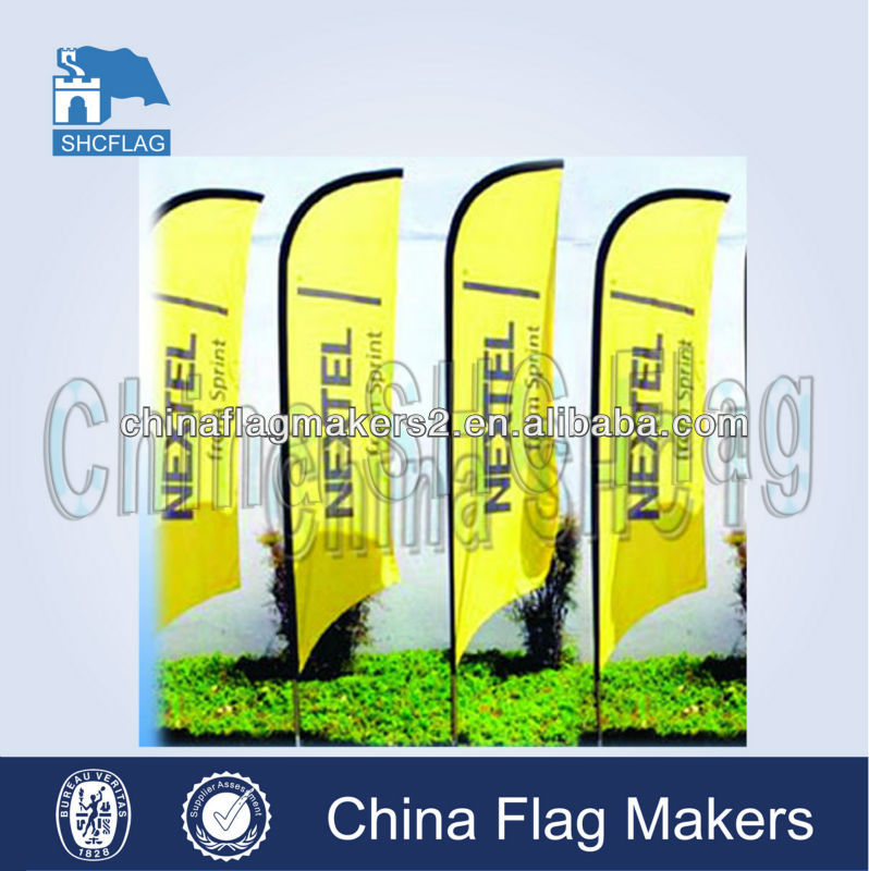 Display custom big flying feather flag