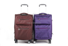 good quality nylon purple luggage