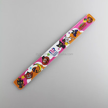 Full Color Printing Reflective Plastic Kids Snap Bracelets