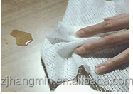 Good water absorption spunlace nonwoven fabric for wipes