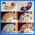 baratos flor impresa de artesanías de bambú abanico productos de bambú