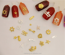 Gold nails charms for beauty salon accessories