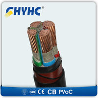 Copper Core XLPE Insulated PVC sheathed SWA armoured 4 cx 25 mm2 Electric Cable Price $9.3/meter