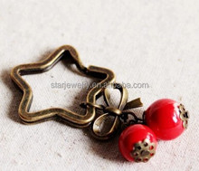 stars red fruit key chain A girl bow style restoring ancient ways the stars bag to hang a birthday present