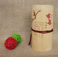 hot stamping cylindrical lightweight decorative wood tea box for craft