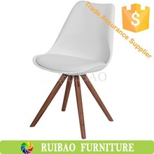 Wholesale Living Ros+Soft PU Seat Cover Leisure Chair Fabric Dining Chairom Furniture PP Plastic with Wood Leg