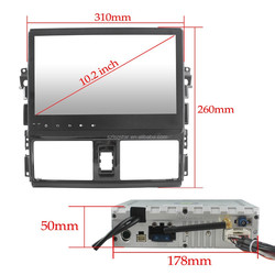 Toyota VIOS Car DVD Player /GPS car radio audio stereo player with GPS navigation map bulit in