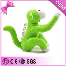 promotion stuffed animal customized soft toy lovely monkey keychain