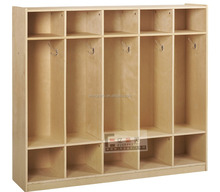 Modern creche centro de madeira mobiliário crianças roupas e sapatos gabinete armário de armazenamento