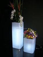 Rectangular tall hot sale acrylic vase for online retail store
