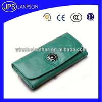 diy leather wallet green color womens pu wallets phone wallet leather case