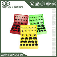 China manufacture colorful silicone o- ring kit with competitive price
