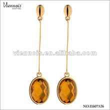 Fashion Big Crystal Stone Long Pandant Earring