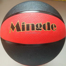 Best quality manufacture customized logo rubber basketball