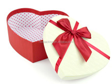 Create your own brand! 2015 new paper gift heart shape box in Guangzhou