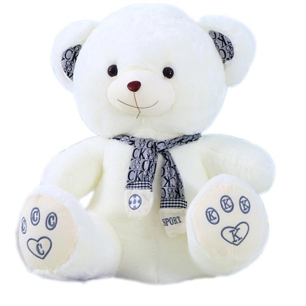 cute snow white soft stuffed bear toys with scarf buy bear toys
