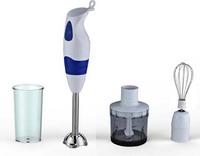 300W new design electric hand blender set with plastic rod chooper beaker whisk HG7702A SET