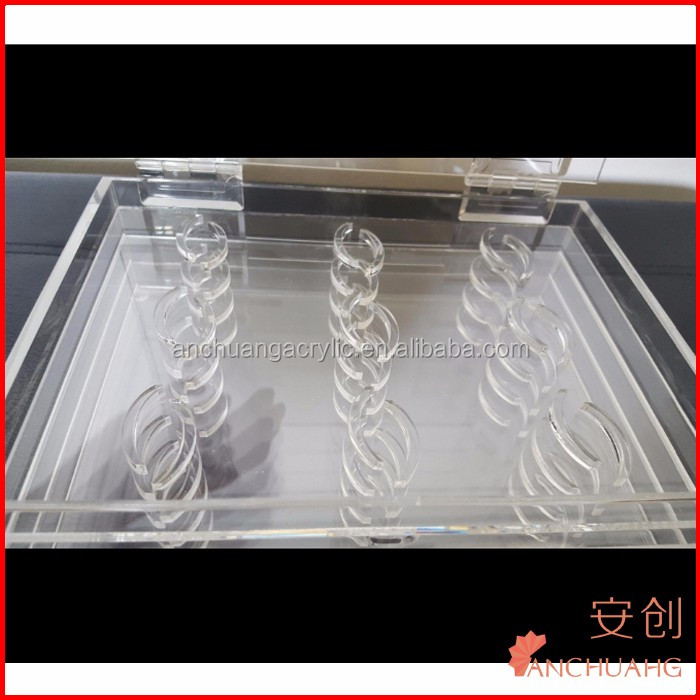 Clear Acrylic Eyelash Organizer 36 Slot Beauty Storage
