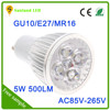 Epistar light source high quality led spotlight 5w E27
