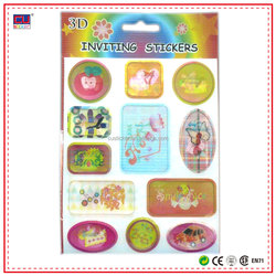 Various Pattern Design 3D Puffy Stickers Embossing