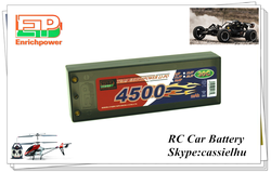 wholesale rc car rechargeable battery pack 7.4v/2s 4500mah 30c with high capacity good price