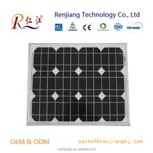 Renjiang Monocrystalline Solar Cell Panel 30W Mono Solar Cell Module
