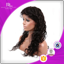 long natural color highlight deep wave indian remy human hair full lace wig