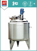Enclosing vertical type sanitary grade liquid with suspended solids mixing tank stainless steel pharmaceutical pot