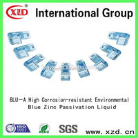 Blue zinc passivation nickel chemical/zinc alloy color chemical/gun metal color chemical