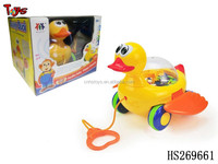 new style musical plastic duck pull line toy