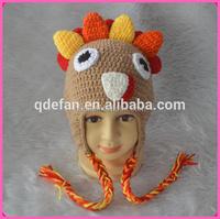 crochet turkey hat free knitting pattern crochet kids animal winter hats