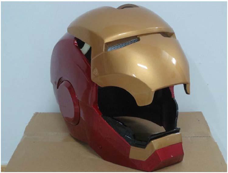 Iron Man Street Bike Helmet Man,1:1 Iron Man Helmet